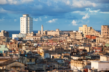Old Havana slum sunny day photo