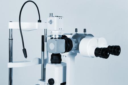 researches: Microscopio moderno e potente per ricerche mediche Archivio Fotografico