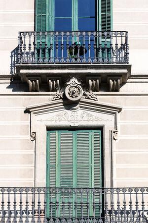 balcony window: balcony of the beautiful building close up