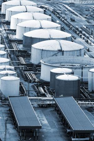 storage tank: a oil storage in the modern port