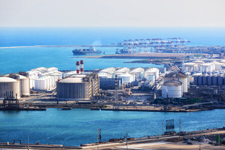 modern sea port on a sunny day