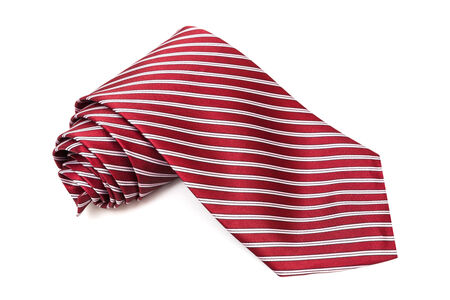 convoluted: burgundy tie on a white background Stock Photo