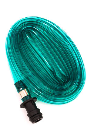 blue hose on a white background