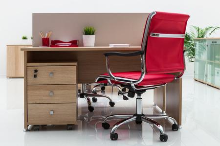 beautiful furniture in a modern office photo
