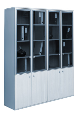 modern bookcase on a white background photo