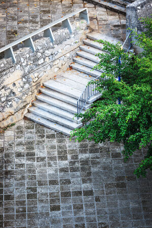 handrail: beautiful staircase in the park Stock Photo