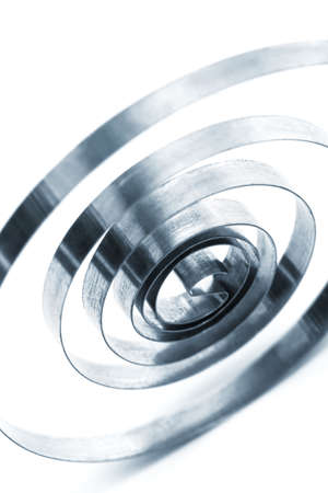 coil: coil spring on a white background Stock Photo