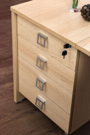 drawers: desk cupboard with drawers in a modern office
