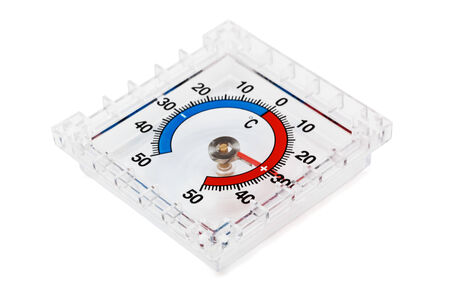 modern thermometer on a white background photo
