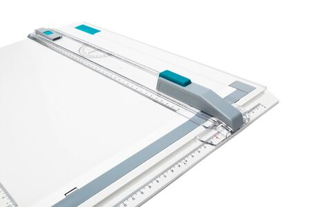 protractor: modern drawing board on a white background Stock Photo
