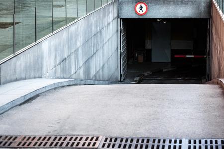 地下駐車場への入り口 写真素材