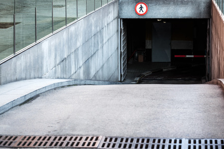 car park: entrance to the underground car park