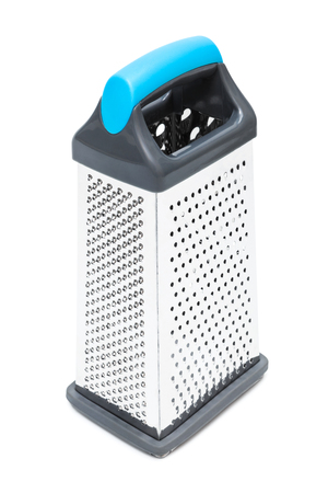metal grater: new metal grater on a white background
