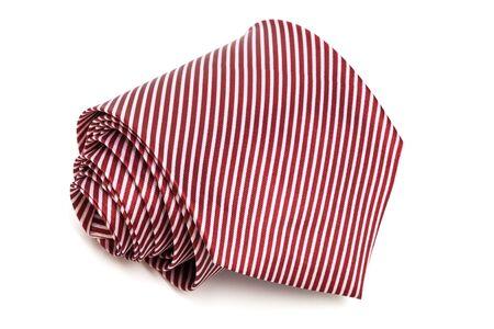 red tie: folded red tie on a white background