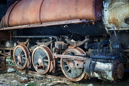 steam locomotive: wheel of an old steam locomotive Stock Photo