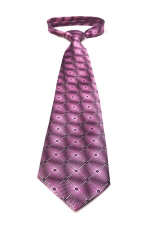 elastic garments: modern pink tie on a white background