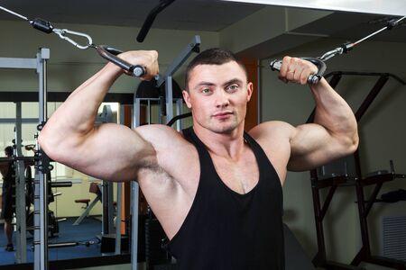 fitness club: a man in a fitness club