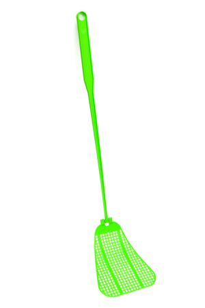 swat: green fly-swat on a white background