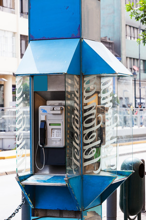 payphone: old payphone on a city street