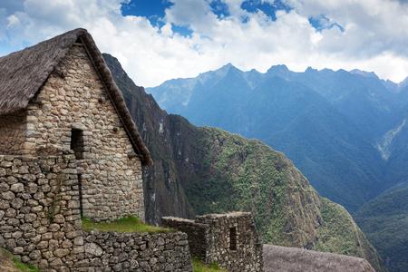 vieille maison en pierre à Machu Picchu Banque d'images