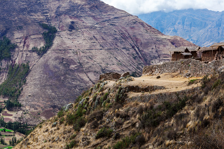 stronghold: Inca ancient stronghold in the mountains