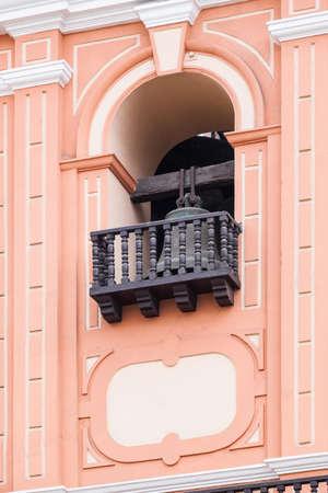 bell bronze bell: bronze bell in a beautiful church Stock Photo