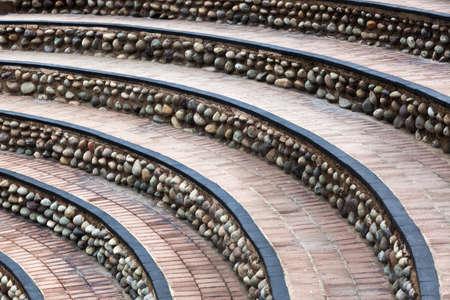 semicircular: semicircular staircase in the city park