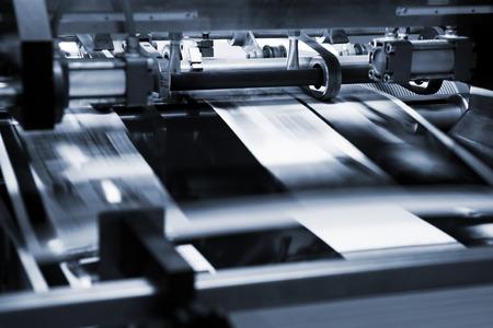 impresión: Proceso poligráfico en una imprenta moderna