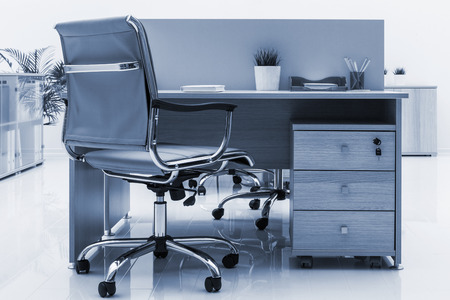 office furniture: beautiful furniture in a modern office Stock Photo