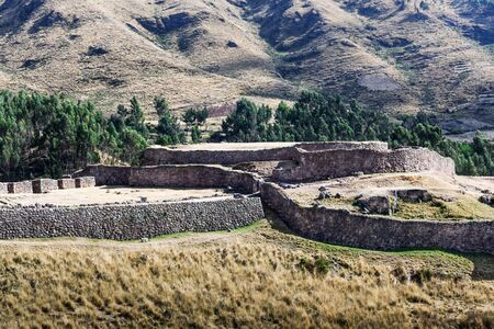inca ruins: inca ruins of a watchtower guard Stock Photo