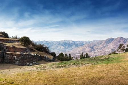 past civilization: ruins of the ancient Inca fortress