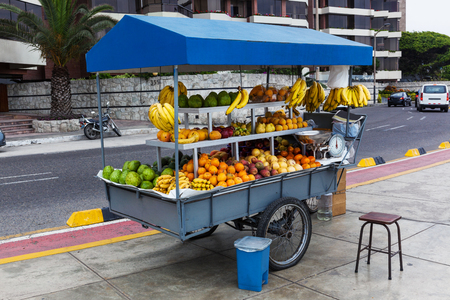 lima: tropical fruits at a street market