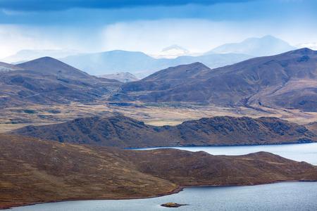 ridge of wave: a beautiful lake in the mountains of Peru