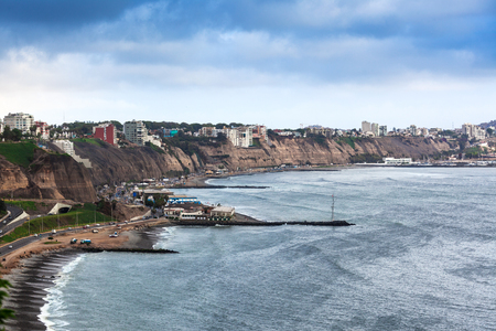 lima: coastline and coastal road in Lima