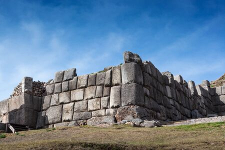 indian culture: inca old fortress on a sunny day