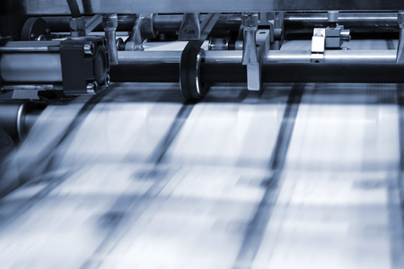 printing process in a modern printing house Stock Photo