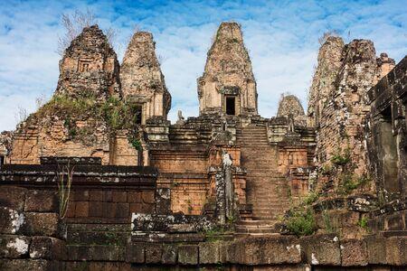 Pre Rup temple ruins at Angkor wat complex Stock Photo