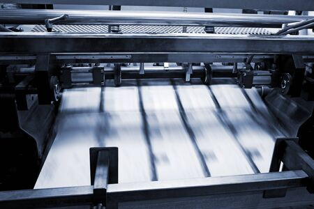 jobbing: polygraphic process in a modern printing house
