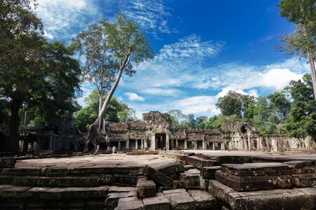 entrance to ancient Preah Khan temple in Angkor