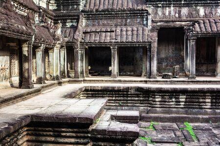 ruins temple of Angkor Wat, Siem Reap, Cambodia Stock Photo