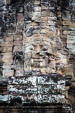ruins of the temple Bayon, Siem Reap, Cambodia