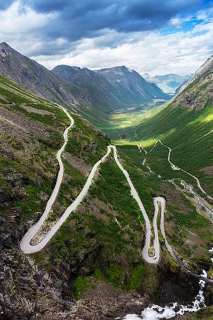 Norway troll road - mountain route of Trollstigen, Norway Stock Photo