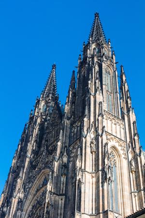 Famous Saint Vitus' Cathedral in Prague, Prague's castle Banque d'images