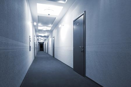 long corridor in a modern hotel