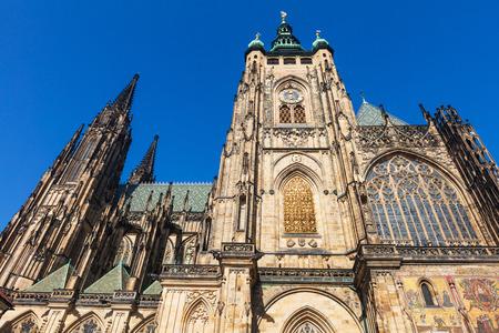 famous Saint Vitus' cathedral in Prague, Prague's castle