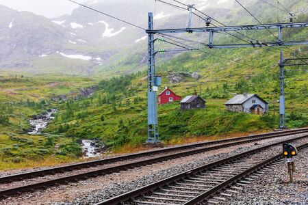railway in the mountains, Norway