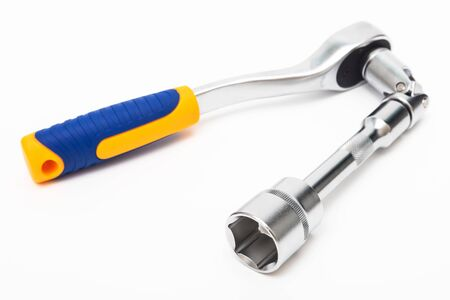 socket wrench on a white background Banque d'images