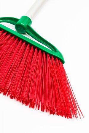 red and modern brush on a white background Stock Photo