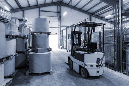 autoloader in a large modern warehouse 免版税图像