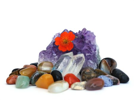 amethyst and gemstones photo